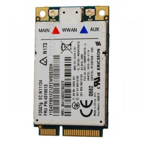Lenovo ThinkPad Ericsson f3507g 3G WWAN P/N 43Y6513